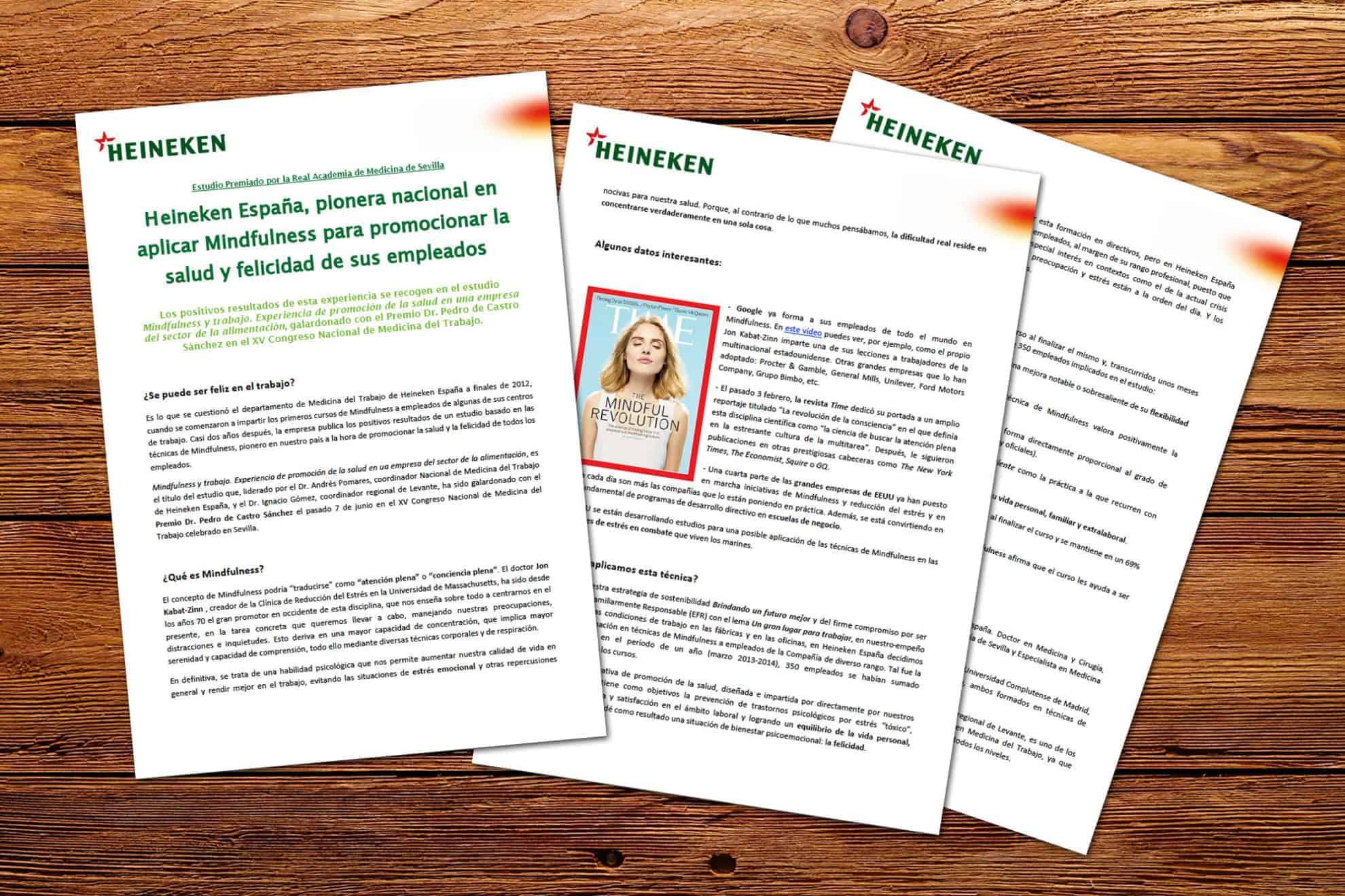 Heineken pionera en Mindfulness